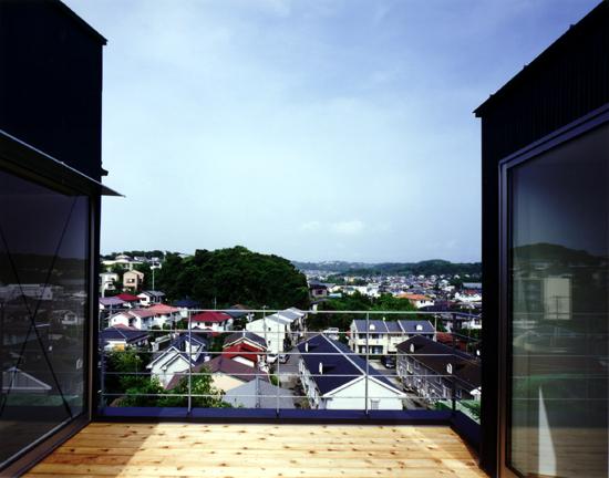 片瀬山の家 デッキよりの眺め。