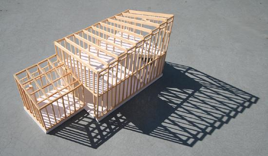 日野の家 模型写真