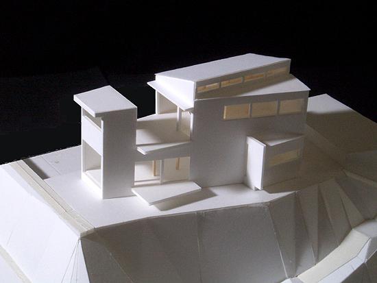 片瀬山の家 模型写真
