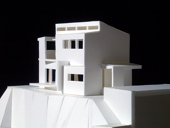 片瀬山の家 北東側外観(模型)