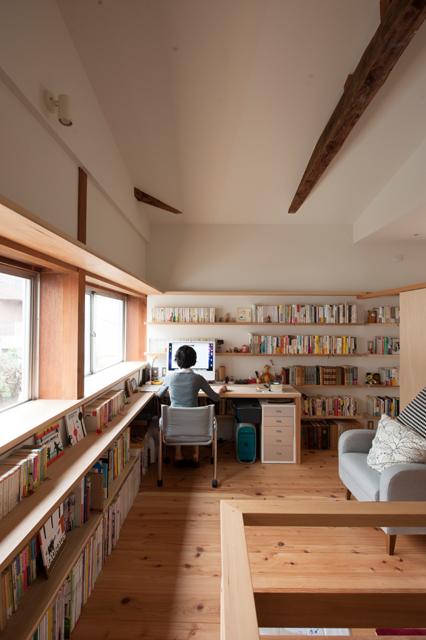 矢来の家 書斎コーナー