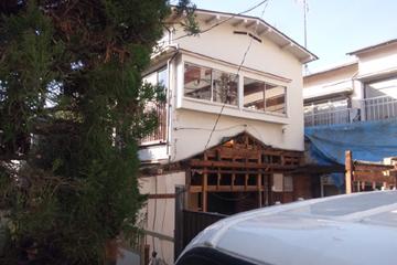 矢来の家 工事の様子 外部