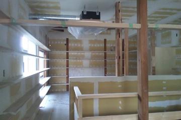 矢来の家 工事の様子 内装