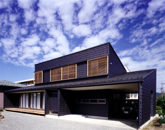 富士吉田の家 南東側外観