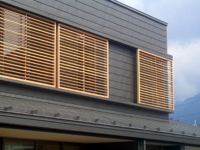 富士吉田の家 2階外観