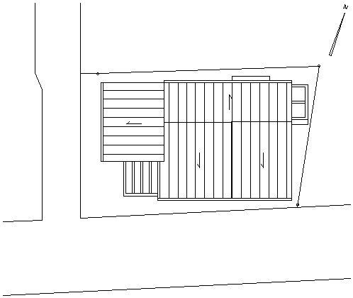 土間のある家 立面図