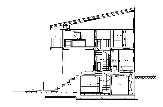 公園下の家 立面図