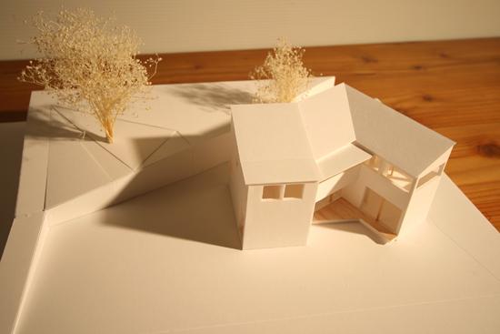 下関の家 模型写真