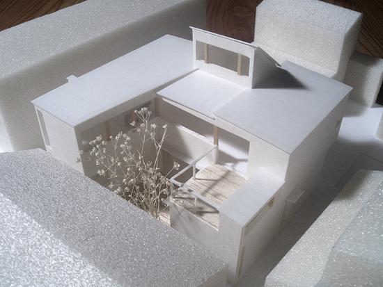裾野の家 模型写真