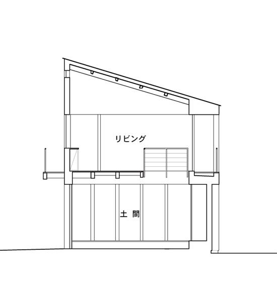 普通の家-3  断面図