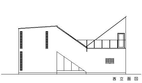 CH4 西立面図