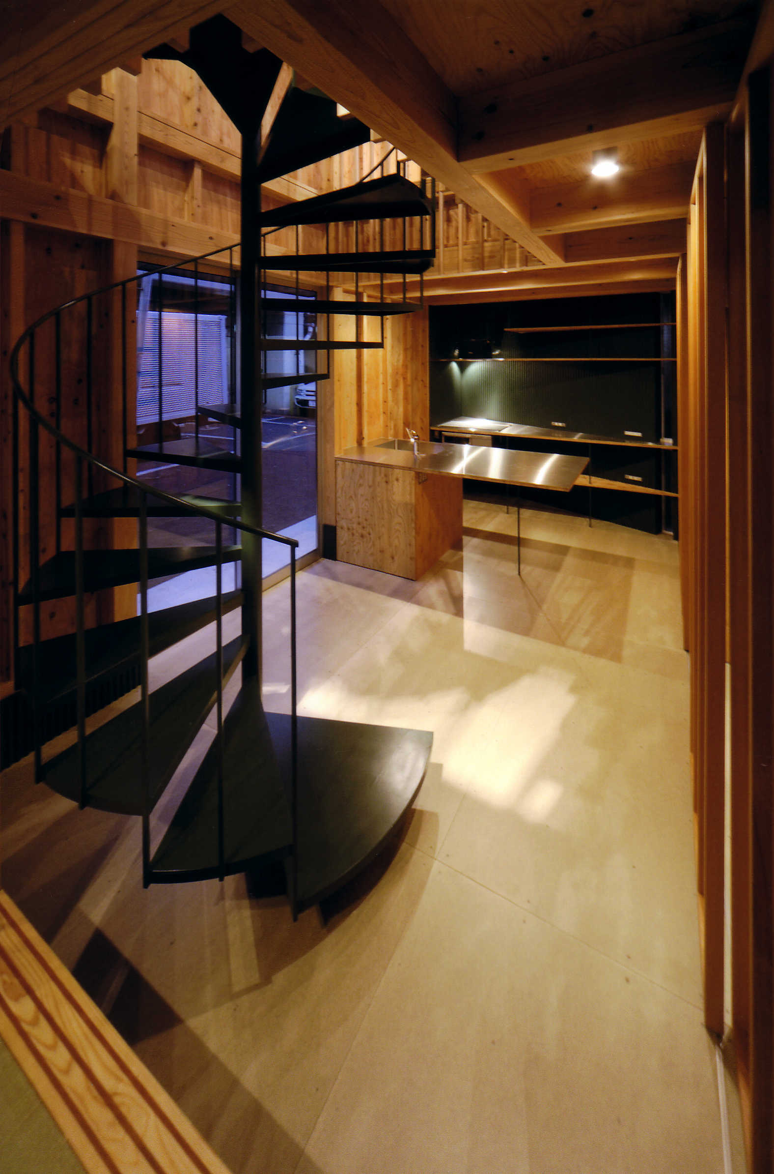沿線の家階段